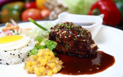 ORIENTAL FIVE SPICES SPARE RIB WITH KNORR DEMI GLACE BROWN SAUCE
